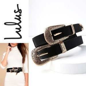NWT LULU'S Mission Complete Double Buckle Belt